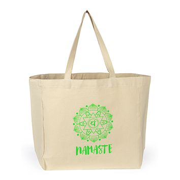 Shopping Tote Bag - Namaste with Heart Chakra