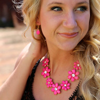 May Flowers Necklace {Fuchsia}