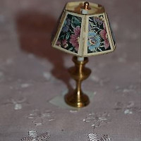 Dolls House Miniature Brass Handcrafted  Table Lamp