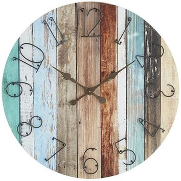 Shore Drenched Wall Clock