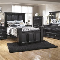 Cavallino 5 Pc. Bedroom - Dresser, Mirror & Queen Poster Bed