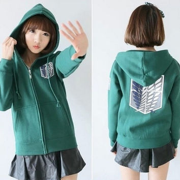 Cosplay Hoodie Sweater Coat Attack on Titan Shingeki no Kyojin Scouting Legion = 1932700036