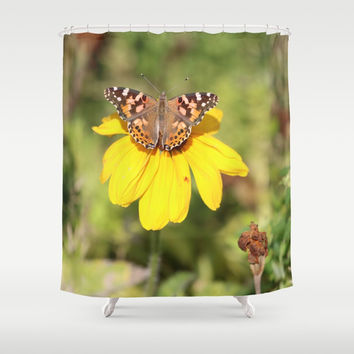 Autumn Butterfly Colors Shower Curtain by Theresa Campbell D'August Art