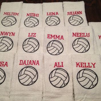 Personalized volleyball towel