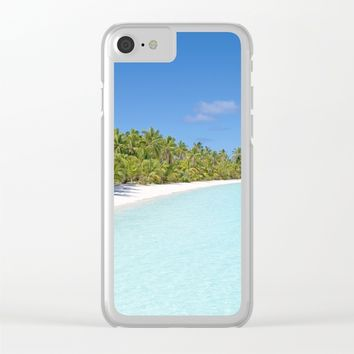 Tropical beach Clear iPhone Case by PRODUCTPICS