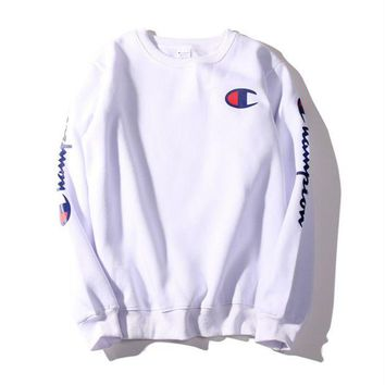 Champion Fashion Long Sleeves Round Neck Sweats Top