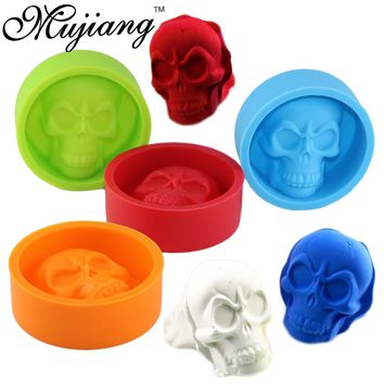 Skull Ice Cube Tray Silicone Molds Muffin Cup Cake Pudding Jelly Chocolate Mold Kitchen Baking Cake Tools