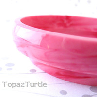 Pink bracelet , fushia bracelet , Resin Bangle , Bracelet Jewelry , Swirl Bangle ,Thin Bracelet , Bangle Jewellery , Women band bracelet