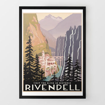 Historic Rivendell Travel Print at Firebox.com