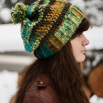 Beanie with Ball/ Pom Pom || Thick Warm Soft || Crochet || Bob Marley ||