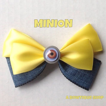 minion hair bow