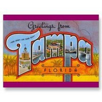Greetings from Tampa, Florida Post Cards