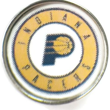 NBA Basketball Logo Indiana Pacers 18MM - 20MM Fashion Snap Jewelry Snap Charm New Item