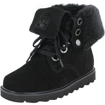 Bearpaw Kay Women's Sheepskin Snow Boots Fold Over - 10 / Hickory II