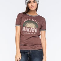 CORNER SHOP I'd Rather Be Hiking Womens Tee | Graphic Tees