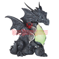 Stone Dragon with Dragon Egg LED Statue - 05-71444 from Dark Knight Armoury