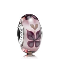 PANDORA Charm - Sterling Silver & Murano Glass Butterfly Kisses