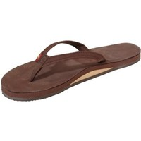 Rainbow Sandals Women's 2-Tone Leather Single Layer, Expresso, WSmall