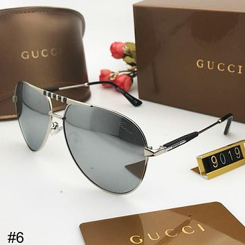 GUCCI 2018 new men and women polarized UV driving driving retro sunglasses #6