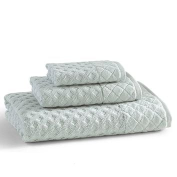 Diamant Towels S/3 | Clearwater Blue
