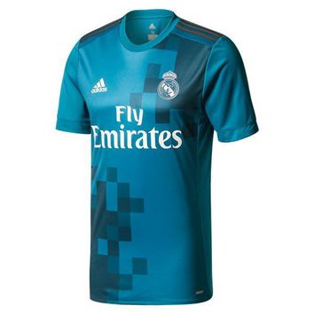 KUYOU Real Madrid 2017/18 Third Away Match Men Soccer Jersey Personalized Name and Number