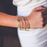 Classic Bangle Set in Gold