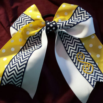 Cheer bows /Sports Bows - Yellow Variation -  for cheerleader, softball, basketball, soccer, tennis, etc