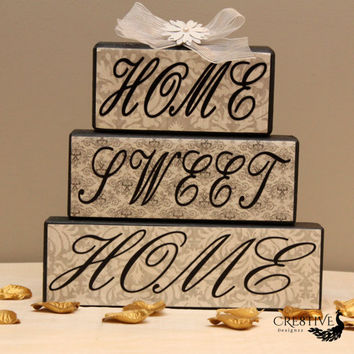 Home Sweet Home Wood Blocks Decor
