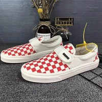 Trendsetter Vans Vault OG Classic Slip-On Lx Canvas Old Skool Checkerboard Flats Shoes Sneakers Sport Shoes