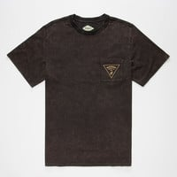 Bohnam Morris Acid Wash Mens Pocket Tee Black  In Sizes