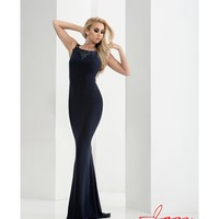Preorder - Jasz Couture 5736 Navy Blue Sexy Fitted Sleeveless Long Dress 2016 Prom Dresses