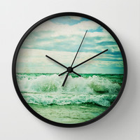 Crash Wall Clock by Olivia Joy StClaire