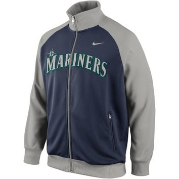 Nike Seattle Mariners 2014 Full Zip Track Jacket - Navy Blue/Silver