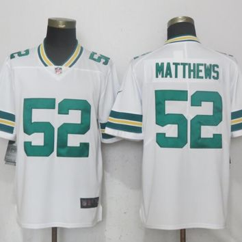 New Nike Green Bay Packers 52 Matthews White 2017 Vapor Untouchable Limited Playe