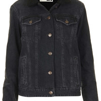 MOTO Black Borg Denim Jacket