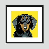 Pop Art: Dachshund Poster