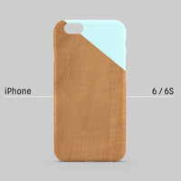 iPhone case - Pastel Blue edge of wood pattern- iPhone 6 case, iPhone 6 Plus case, iPhone 5s case, iPhone 5 case non-glossy