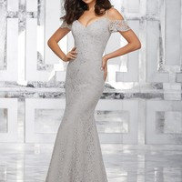 Morilee Bridesmaids 21531 Floor Length Lace Bridesmaid Dress