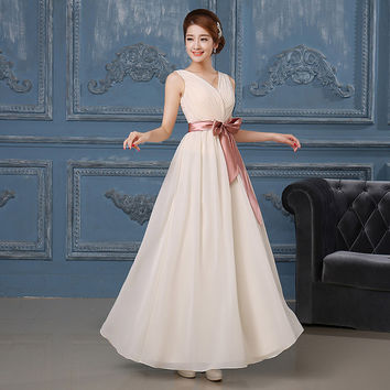 Light Purple Long Chiffon Women Bridesmaid Dresses Under 50 Cheap Bridal Party Formal Prom Gown Banquet Dress In Stock