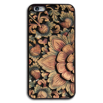 Wood Flower Print Case for iPhone and Samsung Series,More Phone Models For Choice