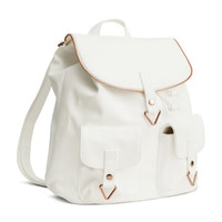 Imitation Leather Backpack - from H&M