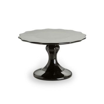 Rococo Noir Small Black Pedestal Cake Stand in Gift Box 27535