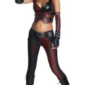 Secret Wishes Batman Arkham City  Adult Harley Quinn Costume, Multi-Colored, Medium