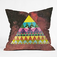 Nick Nelson Pyramid In Space Throw Pillow
