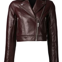 T By Alexander Wang cropped biker jacket