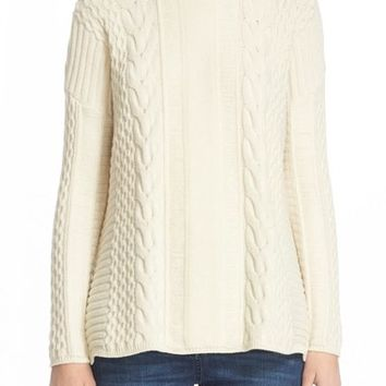 Belstaff 'Katriona' Cable Knit Wool & Cashmere Sweater | Nordstrom