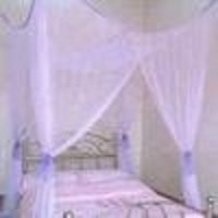 4 Poster / Four Corner Purple Bed Canopy Mosquito Net Full Queen King