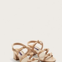 BOWS LEATHER SANDALS