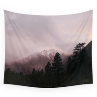 Society6 Misty Sunset On Convict Mountain Wall Tapestry