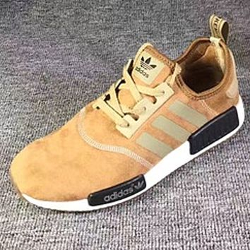 "Fashion ""Adidas"" Women Men Trending NMD Running Sports Shoes Khaki"